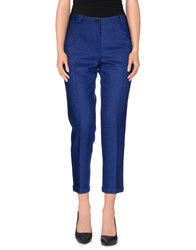 Mauro Grifoni Trousers 3 4 Length Trousers Women Blue
