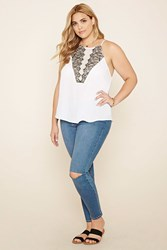 Forever 21 Plus Size Lace Trimmed Cami