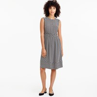 J.Crew Cap Sleeve Dress In Silk Geo Print
