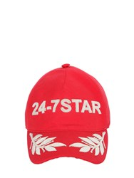 Dsquared Embroidered Canvas Baseball Hat