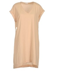 Gold Case Short Dresses Beige