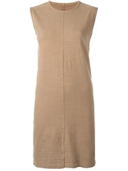 Rick Owens Drkshdw Sleeveless Shift Dress Nude And Neutrals