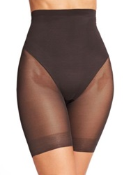 Tc Shapewear Sheer Shaping High Waist Brief Medium Beige Black