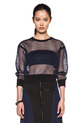 Ohne Titel Mesh Pullover In Blue