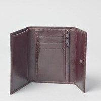 Maxwell Scott Bags S Timeless Full Grain Leather Wallet In Brown