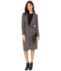 Only Ella Long Wrap Jacket Medium Grey Melange Women's Coat Gray