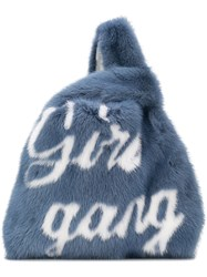 Simonetta Ravizza Furrissima 'Girl Gang' Tote Bag Blue