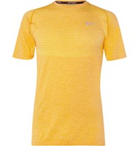 Nike Running Dri Fit Knit T Shirt Yellow