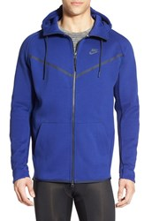 Men's Nike 'Windrunner War Hero' Mesh Panel Hoodie Deep Royal Blue Obsidian