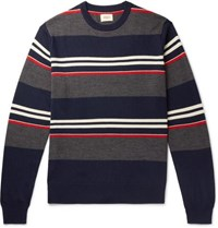 Bellerose Striped Wool Sweater Navy