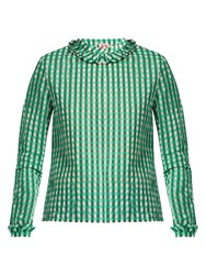 Shrimps Guinevere Gingham Blouse Green