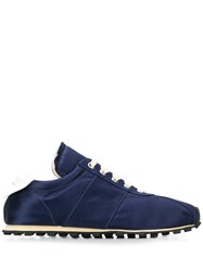 Marni Satin Navy Sneakers Blue