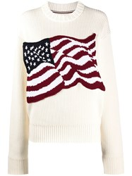 Tommy Hilfiger American Flag Knitted Jumper 60