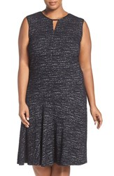 Nic Zoe Plus Size Women's Tweed Jacquard Fit And Flare Dress