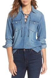 Madewell Women's Lace Up Denim Shirt