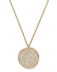 18K Gold Stardust Wavy Disc Pendant Necklace With Diamonds 16 18' Ippolita Red