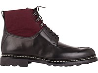 Heschung Men's Leather And Canvas Ginko Boots Black