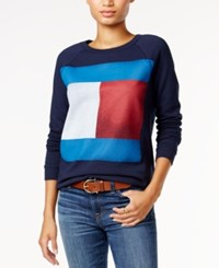 Tommy Hilfiger Flag Logo Sweatshirt Only At Macy's Masters Navy