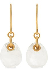 Pippa Small 18 Karat Gold Moonstone Earrings One Size