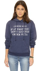 Wildfox Couture Cooking Rule Cuddles Hoodie Dirty Oxford
