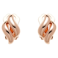 Finesse Rose Gold Plated Diamond Clip On Earrings Gold