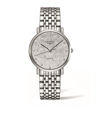 Longines Elegant Collection Striped Silver Watch Unisex