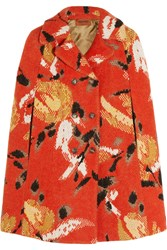 Missoni Intarsia Wool Blend Cape Red