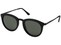 Le Specs No Smirking Black Rubber Khaki Mono Fashion Sunglasses