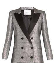 Racil Prince Double Breasted Cotton Blend Jacket Silver