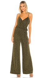 Cupcakes And Cashmere Florence Jumpsuit In Black Metallic Gold.