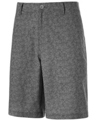 Greg Norman For Tasso Elba Grid Pattern Golf Shorts Only At Macy's Silver