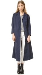 Rachel Comey Zia Trench Coat Navy