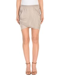 Rick Owens Mini Skirts Light Grey