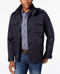 Tasso Elba Men's Four Pocket Jacket Only At Macy's Navy Blue