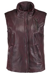 Freaky Nation Summer Waistcoat Bordeaux