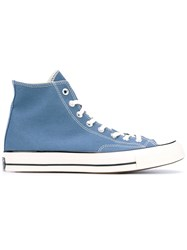 Converse Hi Top Sneakers Unisex Cotton Rubber 8.5 Blue