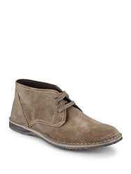 John Varvatos Round Toe Lace Up Chukka Boots Wet Sand