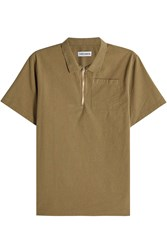 Tres Bien Cotton Top With Zipped Front