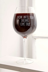 Urban Outfitters Xl Wine Glass Clear
