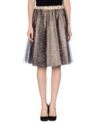 Soallure Knee Length Skirts Grey