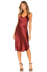 Mes Demoiselles Festina Silk Dress Wine