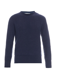 Gieves And Hawkes Honeycomb Knit Linen Sweater
