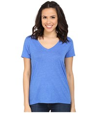 Hurley Staple Perfect V Tee Heather Hyper Cobalt Women's T Shirt Blue