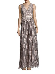 Erin By Erin Fetherston Lace Belted Peplum Gown Potpourri