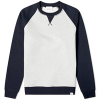 Norse Projects Ketel Contrast Sleeve Sweat Blue
