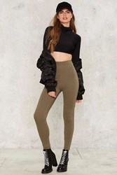 Perfect Strangers High Waisted Leggings Green