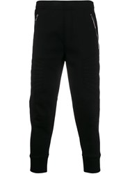Neil Barrett Cropped Tapered Track Trousers Black