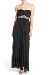 Women's Trixxi 'Zoe' Beaded Strapless Gown