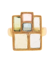 Pippa Small Tourmaline And Yellow Gold Ring