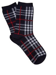 Burberry Vintage Check Cotton Blend Socks Navy